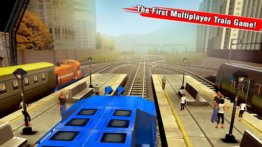 Train Racing Games 3D screenshot 1