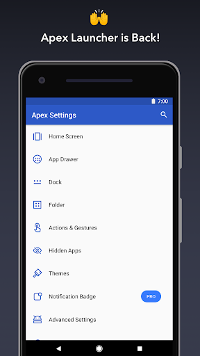 Apex Launcher screenshot 1