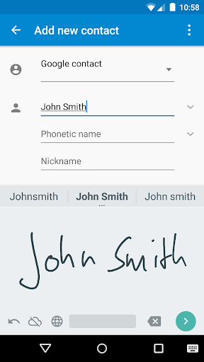 Google Handwriting Input screenshot 1