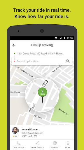Ola cabs screenshot 3
