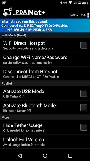 PdaNet+ screenshot 2