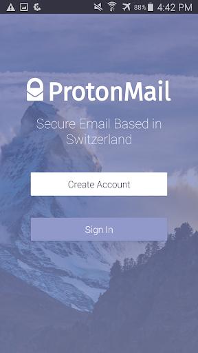 ProtonMail screenshot 1
